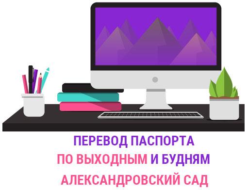 Перевод паспорта Александровский сад